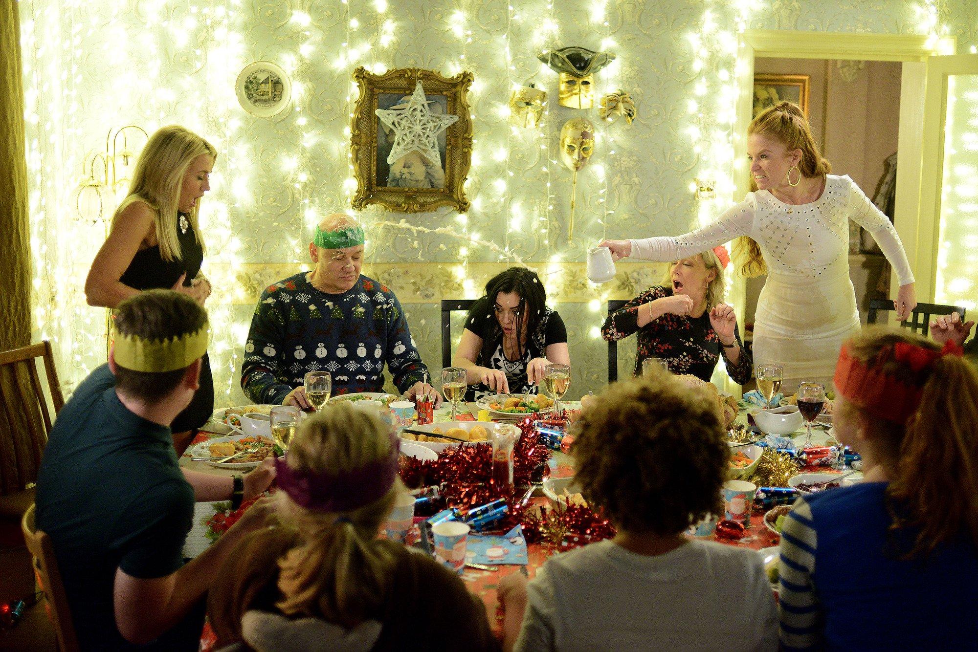 Una cena de Navidad como cualquier otra.