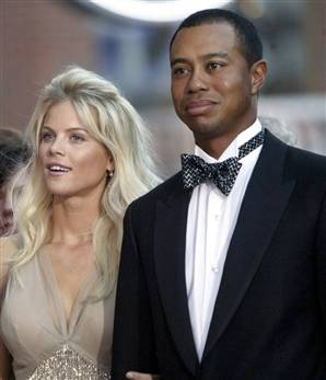 Tiger Woods y el bimbo de su mujer